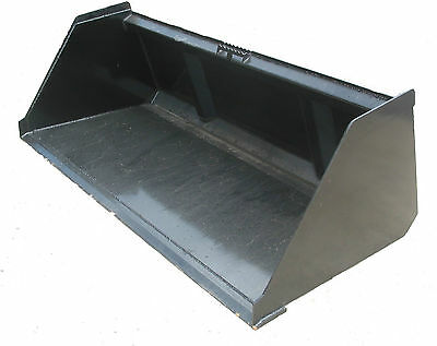 84 Inch High Capacity Snow and Litter Skid Steer Bucket with High Carbon Edge