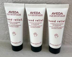 NEW!! Set of three AVEDA hand relief moisturizing creme .85 fl oz 25 ml