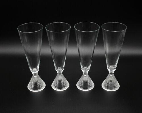 Iittala Tapio Wirkkala Briljant Champagne Flute Glasses 4 pcs