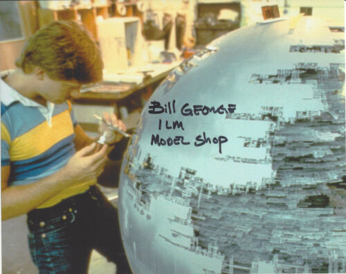 BILL GEORGE SIGNED AUTHENTIC STAR WARS SPECIAL EFFECTS 8X10 PHOTO LUCASFILM COA