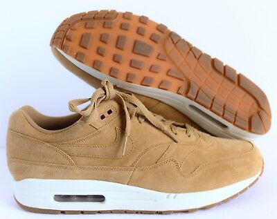 NIKE AIR MAX 1 PREMIUM FLAX/SAIL-GUM MED BROWN SZ 11.5 [875844-203]