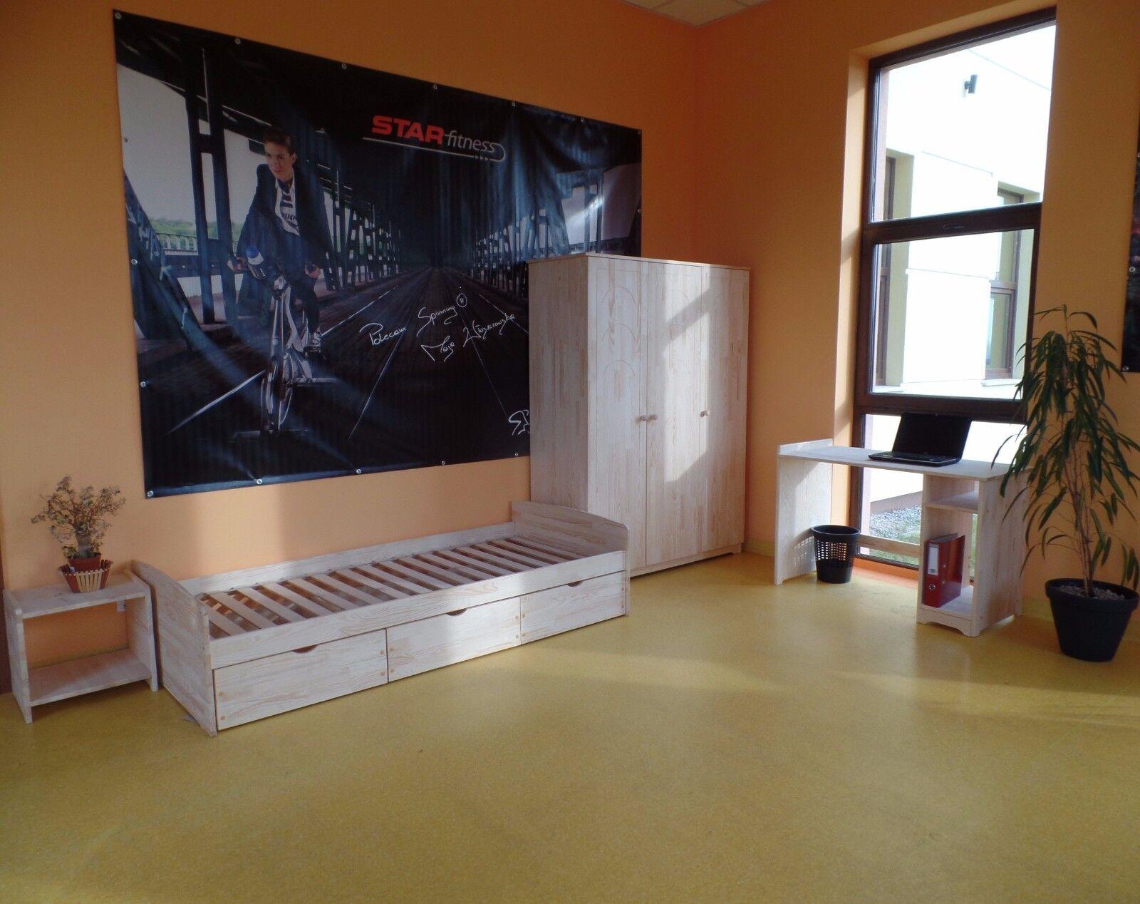 funktionsbett einzelbett kojenbett jugendbett 100x200. Black Bedroom Furniture Sets. Home Design Ideas