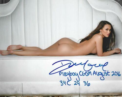 DEANNA GREENE 08/2016 PLAYBOY CYBERGIRL OF THE MONTH SEXY SIGNED PHOTO  (IN4)