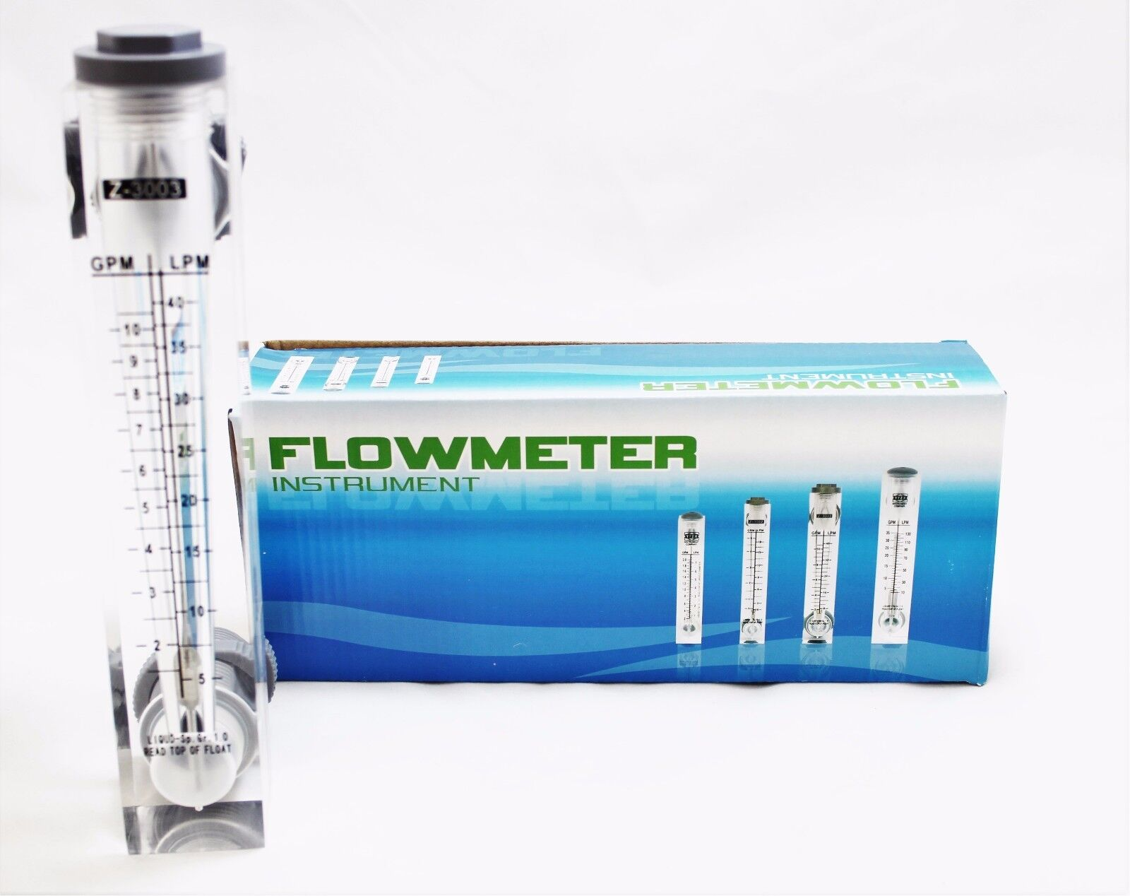 Panel flowmeter water flow meter rotameter 2 10 gpm ebay for Liquid template filters