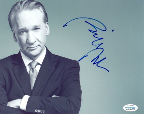 Bill Maher Signed Autographed 8x10 Photo Real Time ACOA COA