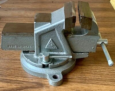 Schulz Bench Vise 3-12 Jaw With Anvil And Locking Swivel Base