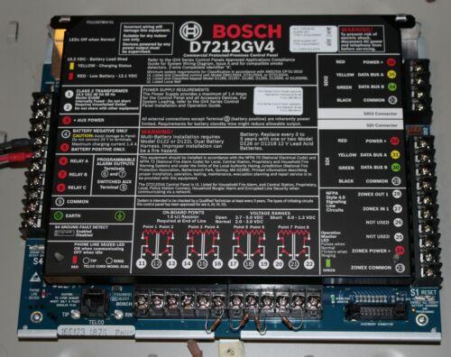 BOSCH D7412GV4 Alarm  Control panel plus D8103 cabinet.
