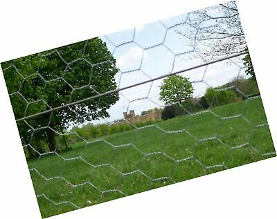 50m roll of 1.8cm (6ft) tall 50mm galvanised wire mesh - chicken wire