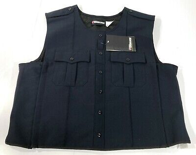BLAUER 8370 POLYESTER ARMORSKIN VEST OUTER ARMOR CARRIER DARK NAVY SMALL TALL