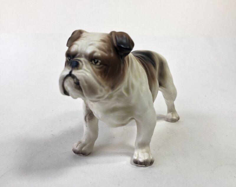 Vintage Lefton Bulldog H3679 Ceramic Porcelain Dog Figurine