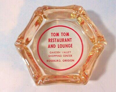 Vintage Tom Tom Restaurant and Lounge Advertising Ashtray Roseburg Oregon