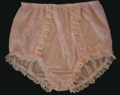 Nel Jen Handmade Sissy All Pink Tricot And Lace High Waist  Panties