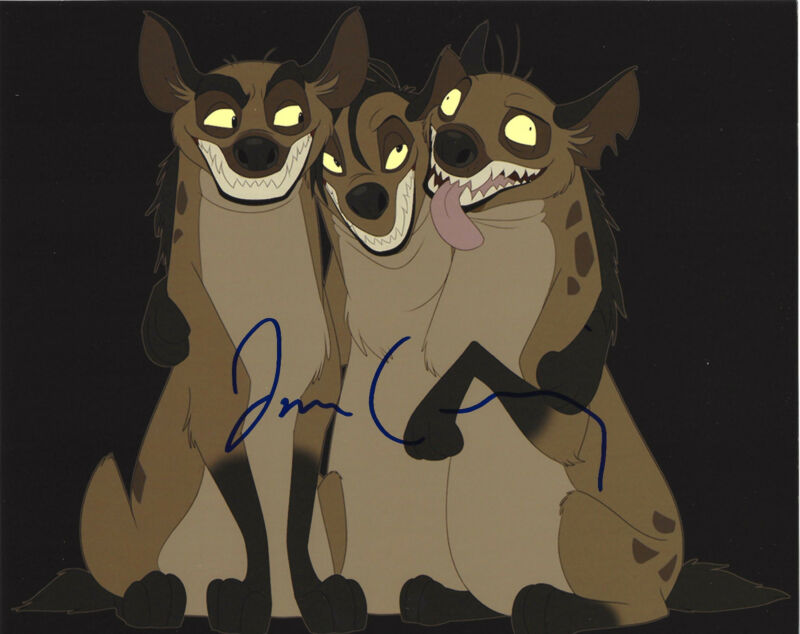 JIM CUMMINGS SIGNED AUTHENTIC 'THE LION KING' 8X10 PHOTO w/COA VOICE ACTOR