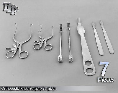 Set Of 7 Pieces Orthopedic Knee Surgery Surgical Instruments Ds-934