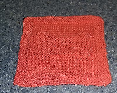 Brand New Hand Knit Dog Bone Design Cotton Dish Cloth For Dog Rescue Charity