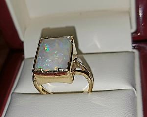 9crt Gold Opal Ring Melbourne CBD Melbourne City Preview