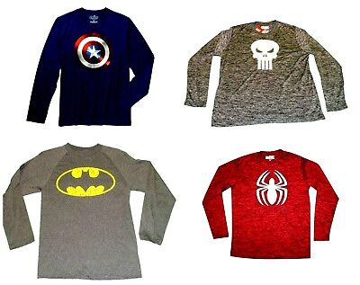Mens' Long Sleeve T-Shirts  Batman  Punisher  Captain America  NWT (Captain America Long Sleeve)