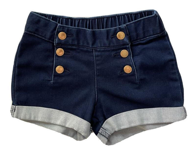 Genuine Kids OshKosh Denim Blue Jeans Mini Shorts Girls Size 3T Rolled Hem