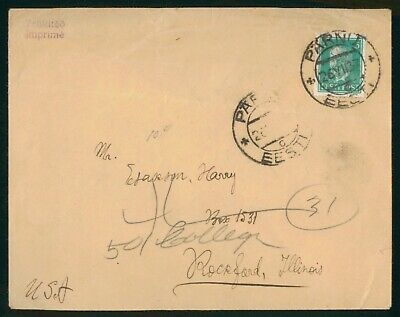 Mayfairstamps Estonia 1937 Parnu To Rockford IL Cover wwo89015
