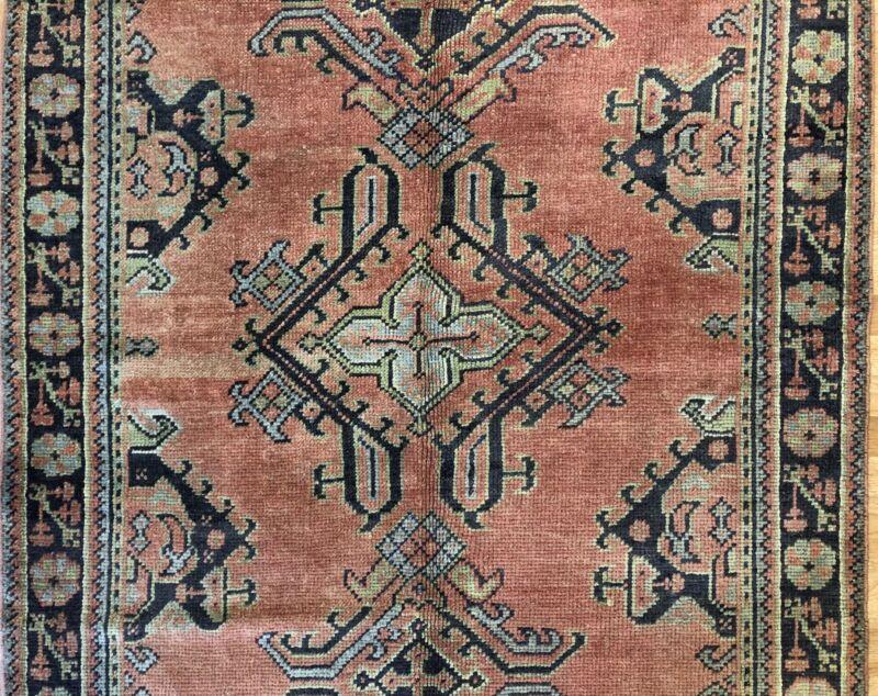 Tremendous Turkish - 1920s Antique Oushak Rug - Traditional Tribal 4.7 X 6.1 Ft.