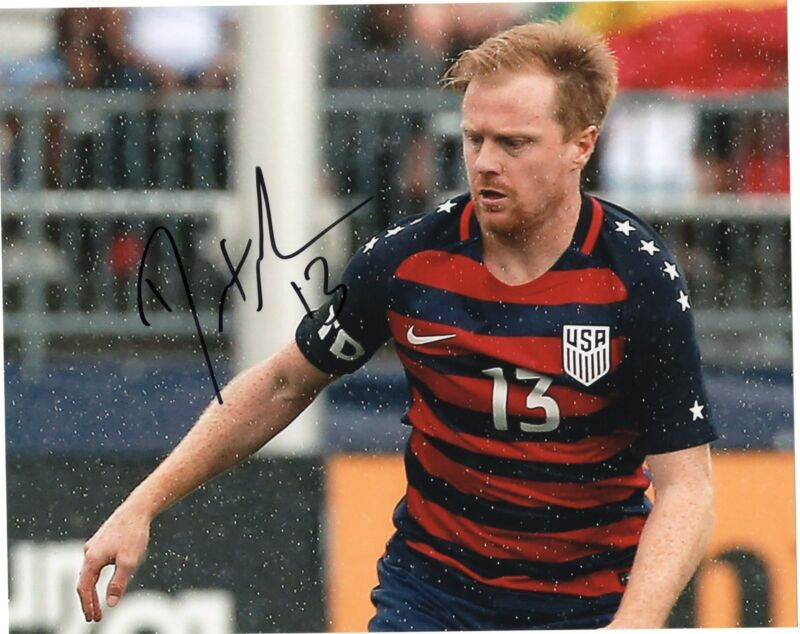 Dax McCarty signed 8x10 Photo w/COA Chicago Fire MLS USA Soccer
