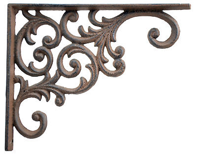 Wall Shelf Bracket Brown Cast Iron Brace Custom (Custom Wall Shelf)