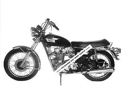 ORIG 1973 TRIUMPH MOTORCYCLE FACTORY PRESS PHOTO TRIDENT T150V T150 750 CLASSIC