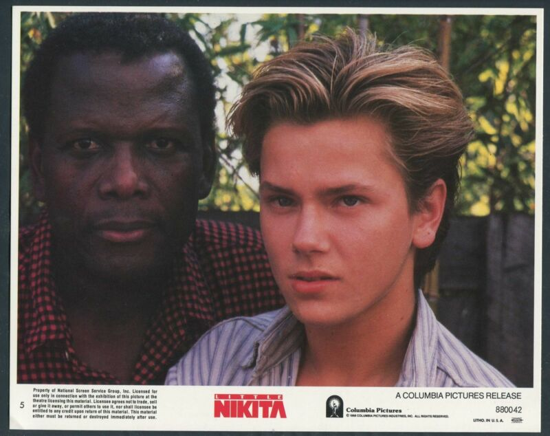 SIDNEY POITIER RIVER PHOENIX VERY RARE PHOTO Little Nikita '88