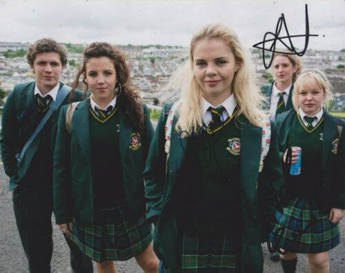 Derry Girls Multi-Signed 10x8 Photo AFTAL *SIGNED BY 4*