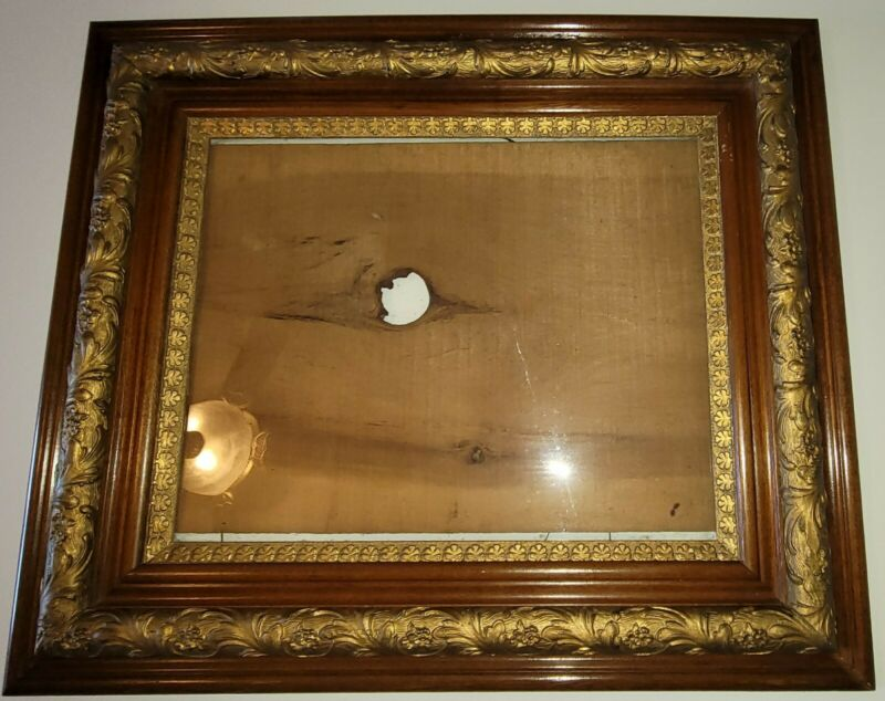 Beautiful Large Victorian Antique Vintage Gesso And Oak Wood Frame