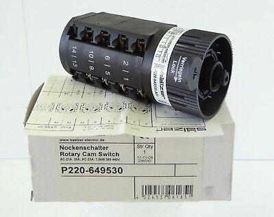 SÄLZER P220-649530 Nockenschalter Rotary Cam Switch 3 Stell. 20A 7,5kW 380-440V - Cam Switch