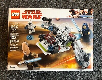 LEGO Star Wars Jedi and Clone Troopers Battle Pack (75206) * NEW * SEALED * Lego Star Wars Clone