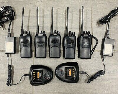 Lot Of 5 Hyt Hytera Tc-700u8 Md 2-tone Uhf 4w 16ch Radios 2 Chargers