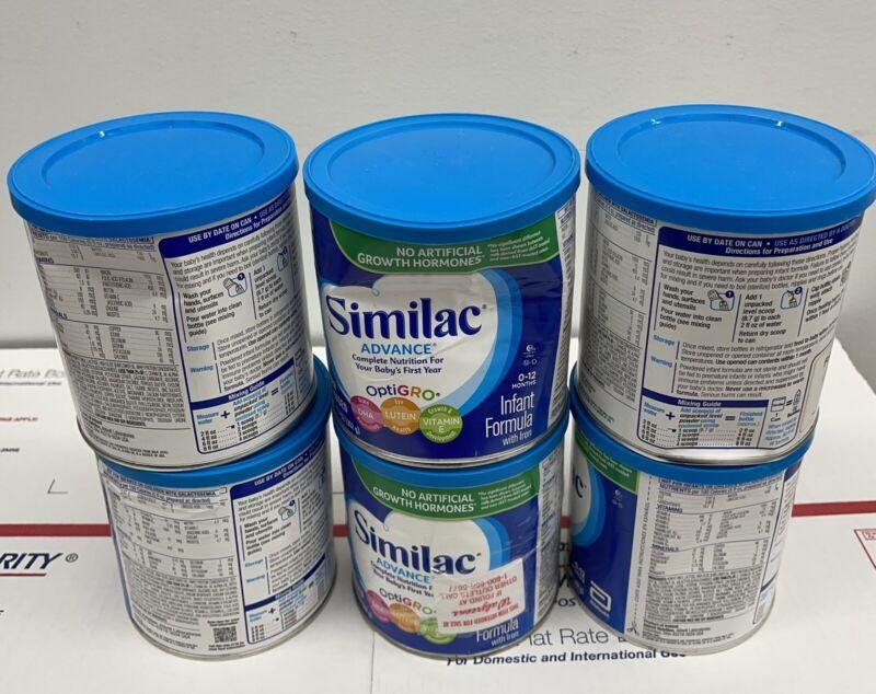 6 Dented Similac Advance Infant Powder with Iron 12.4oz. Expiration 2023/2024