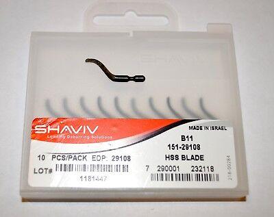 Shaviv B11 Cutter Deburring Blade Pkg Of 10 29108