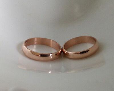 Eheringe, Trauringe, 585 Rotgold, 3 mm, Dicke: 1,0 mm, Flamere Design
