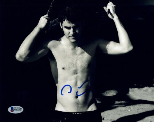 Darren Criss Signed Autographed 8x10 Photo Hot Shirtless Glee Beckett COA