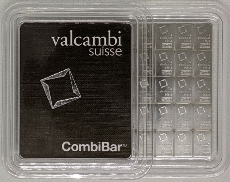 1 gram Platinum Bar - Valcambi- 999.5 Fine