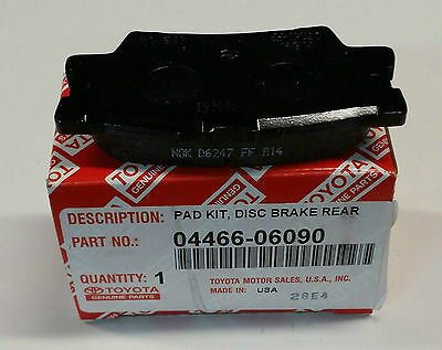 2007 - 2011 CAMRY REAR Brake Pads NEW genuine Toyota OEM 04466-06090