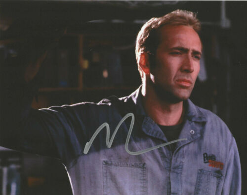 NICOLAS CAGE HAND SIGNED 'GONE IN 60 SECONDS' 8x10 PHOTO B w/COA NIC ACTOR PROOF