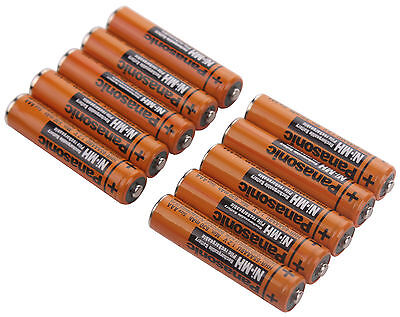10PCS Rechargeable Ni-MH AAA 1.2V 630mAh HHR-65AAABU Battery For Panasonic on Rummage
