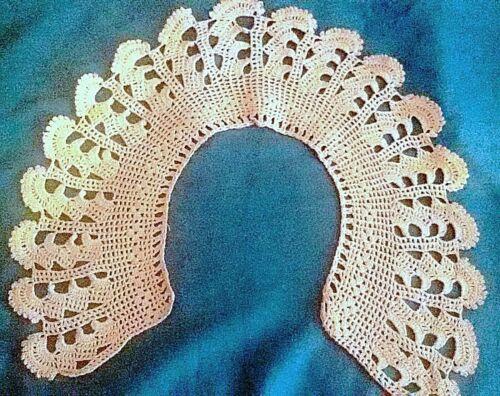 Vintage Victorian Hand Made Crochet Collar