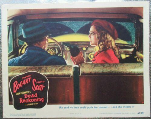 Dead Reckoning Movie Lobby Card 1946 Humphrey Bogart Lizabeth Scott.11x14