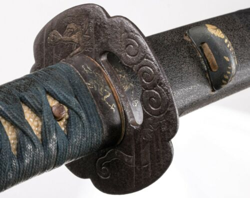Handachi Katana Koshirae with Silver Dragons - Tsuba with NBTHK Kichio