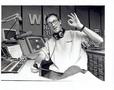 1992 Original Photo David Brudnoy Wbz Radio Host Gives Ok Hand Gesture Sign