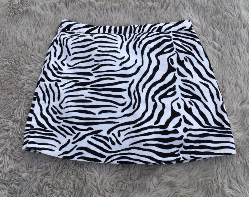 Gymboree Girls size 7 Zebra Print Above Knee Skirt