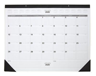 Staples 2020 17 X 22 Desk Pad Calendar Blackwhite 12951-20 24373513