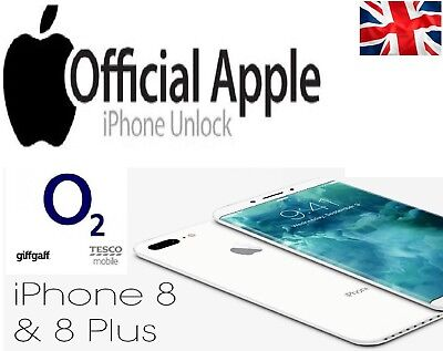 Factory Unlocking Service for iPhone X, 8 & 8 PLUS O2-UK Tesco & Giffgaff