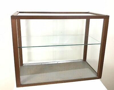 Showcase v90.4a Wood Collectibles 2 Glass Plexiglas 90 x 39 x 8,5 CM
