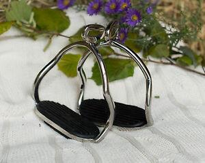 !NEU! Steigbügel Island, Sicherheits-Steigbügel, mit schwarzer Gummitrittfläche